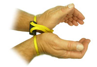 Textile disposable handcuffs